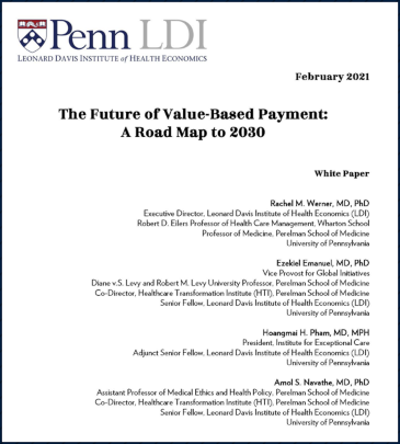 The Future of Value-Based Payment: A Road Map to 2030
